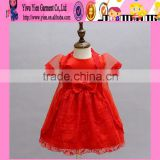 2015 New Born 3 Months Baby Dress Red Birthday Supply 3 Months Baby Dress