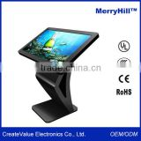 Supermarket Equipment 42/46/55/65 inch Android Tablet Desk Horizontal Standing Kiosk