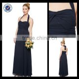 Discount Plus Size Halter Navy Floor Length Bridesmaid Dress Patterns bm00057