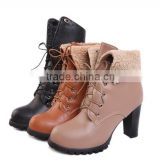 women winter warm ankle boots with shoes lace CP6171