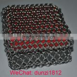 Stainless Steel ring mesh Cast Iron Pan cleaner scruber
