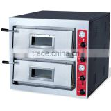double deck commercial electric pizza oven Built-in 304 SS digital timer display steam oven