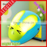 Best selling promotion gift night light unique design rabbit animal shape motion sensing led night light lamp with low price
