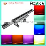 Professional Stage Lighting IP65 Outdoor Waterproof LED Strip Pixel Bar Wash 6in1 RGBWA+UV 24pcs 18w LED Wall Washer