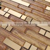 MB SMJ01 Living Room Decorative Backsplash Strip Mosaic Wall Tile Laminated Glass Mosaic Tile Sheet