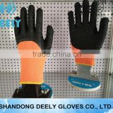cheapes latex household gloves Knitted Cuff Foam Wrinkle Latex Palm Coated Safety Working Gloves
