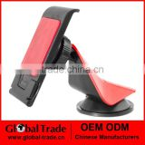 Cell Phone Car Mount - Onyx EasyGrip Smartphone Cradle - Universal Windshield, Dashboard and Desk Holder (Red & Black) A0283