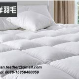 2-4 CM white goose feather mattress topper with anti-mites and bacterial treatment