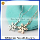 Wholesale new fashion European Christmas style 925 sterling silver snow chain necklace