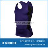 CP-1308 sleeveless compression wear, mens sleeveless compression wear, mens compession wear