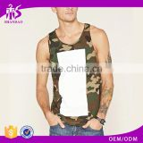 2017 Guangzhou Shandao OEM Hot Selling 100% Cotton Dry Fit Camo Basketball Mens Printed Tank Top