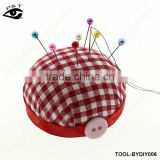 DIY tools sewing accessories red checker pin cushion
