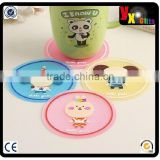 Household Round Silicone Coasters Cup Mat Table Mat Placemat Plate Mat Pot Mat kitchen tool table decoration 5p/soft pvc coaster