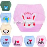 cartoon design sweet heart waterproof reusable training pants washable pure cotton baby cloth diaper