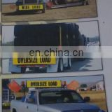 wide load ,oversize load double-sides banner with ropes 14''x72'',made of durable vinyl fabric from wenzhou Fly craft