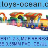 inflatable long train bounce game /magnetic train game/inflatable train amusement equipment