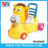 Hot selling plastic music and light push cartoon funny baby toilet