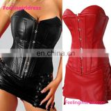 Wholesale PVC Over Bustier Corset Dress Breast Corsets
