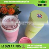 Insulated Thermal Vaccum Glass Double Wall Tumbler Tea Cups With Strainer