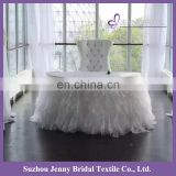 TC017H JENNY BRIDAL hot sale fancy fluffy otganza tutu table skirt for banquet