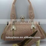 2012 women comfort shoes and handbag
