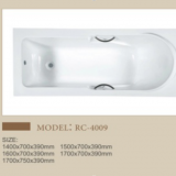Modern bathroom acrylic bathtub