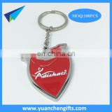 Good quality zinc alloy custom advertising enamel keychains