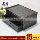 Black hotel drawer box acrylic makeup organizer/ acrylic storage box with drawer