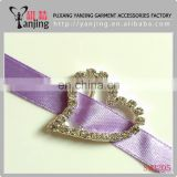 Factory directly ! Wholesale round wedding invitation ribbon rhinestone buckle