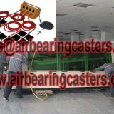 Air casters applied on moving and handing heavy duty loads