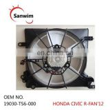 Radiator Cooling Fan Hon-da Civ-ic 12 13 14 15 16 17-OE 19030-TS6-000