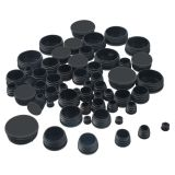 Tube Pipe Plug Black Round Plastic Plugs, Glide Insert End Caps for Chair Table Stool Leg