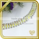 Yellow chandelier ab crystal beads rhinestone cup chain FC644                                                                                                         Supplier's Choice