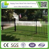 China Anping Black Backyard Metal Steel Iron Fence Designs for Philipines