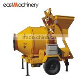 JZC350 Roller Drum Concrete mixer with Hydraulic type self loading mobile concrete mixer