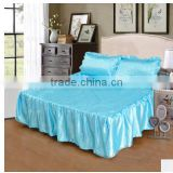 Simmons bedspread bed cover,print satin cloth bed skirt can match a 3pcs suit