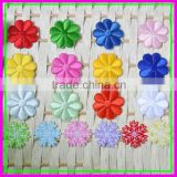 China Factory wholesale Trial Order 18pcs Mixed Package 3D Sew-on 4.5*4.5cm Embroideried Pink Woven Snow Flower Patch