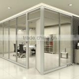 Full tempered glass floor to ceiling aluminium frame glass partition, office partition glass wall (SZ-SWP357)