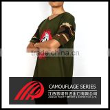 OEM Service short sleeve Anti Wrinkle Breathable camouflage Polo t shirt for men
