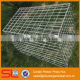 Rock cage, wire basket gabion retaining wall, galvanized gabion basket