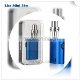 CE ROHS Approved Lite Mini 35w UK Agreed 2ML Atomizer 35w E Cigarette Vaporizer Women Favorite Vape Mods Box E Smoking