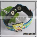 best friend children nail bracelet with cartoon SpongeBob logo 3d soft pvc material bracelet shenzhen pinsguide supplier