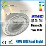 GU53 gu10 led bulb black light,AR111 GU53 RA80 60degree Dimmable 15w 230v,wholesale gu10 led bulb black light
