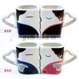 hot new products for 2014 promotional gift wedding gift wedding favor wedding souvenirs heart shape ceramic couple mug