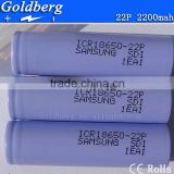 High Discharge Energy Saving Battery for Samsung icr18650 22P 2200mAh 3.7V lithium ion rechargeable battery