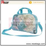 Hot sale elsa frozen princess lady transparent pvc school bag handbag with long shoulder