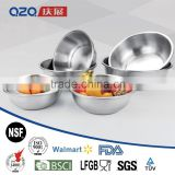 9pcs Durable and easy to clean stainless steel soup bowl ,salad bowl set                                                                         Quality Choice