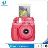 fuji polaroid instant film photo camera Mini8 raspberry color