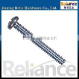 Blue Zinc Plated Full Threaded Spike Carbon Steel Phillips Pan Head Machine Screw With Different Size Are Avaliable