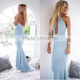 Halter neck off shoulder maxi dress sexy backless dress floor length evening dress women beach wear